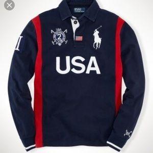 Polo Ralph Lauren Custom Long Sleeve USA Rugby
